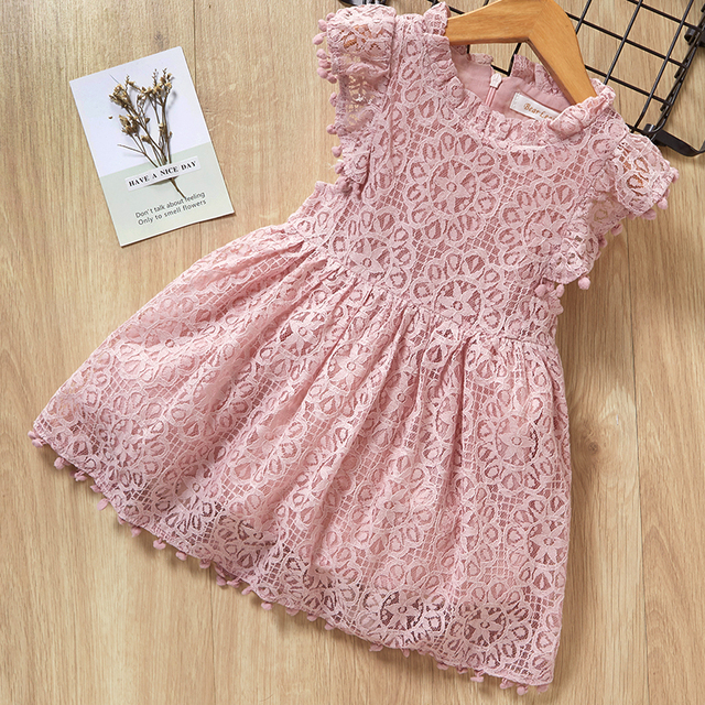 Bear Leader Girls Dress 2019 New Summer Brand Girls Clothes Lace And Ball Design Kids Princess Dress Party Dress For 3-7 Years