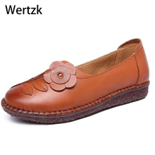 New National Wind Flowers Handmade Genuine Leather Shoes Women