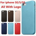 Pu de cuero de lujo con LOGO Original 1 : 1 caso para iPhone SE / 5 / 5S copia Original contraportada oficial estilo