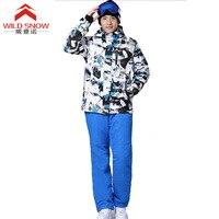 Brand New Men Ski suit Winter Outdoor Ski Jacket Men's Snowboard Skiing Waterproof breathable Thermal Warm Jackets pants