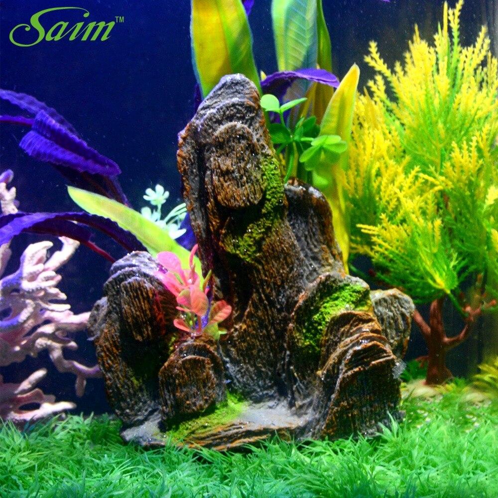 Artificial aquarium fish tank - Saim Aquarium Fish Tank Fake Mountain Decoration Artificial Rockery Aquarium Decorative Accessories Supplies China
