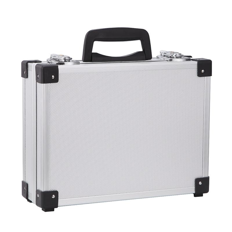 Aluminum Alloy Instrument Repair Camera Photography Tool Holder Storage Case Box heavy duty flight case with Foam Insert