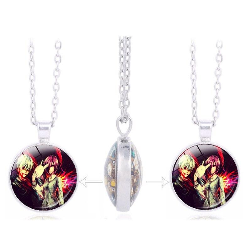 Anime Tokyo Ghoul JUZO SUZUYA REI Uta Kaneki Ken Touka Kirishima Double sided Pendant Jewelry Halloween Gifts