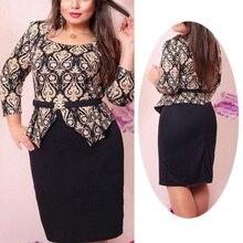 Formal Style Plus Size Cotton Pencil Dress For Women