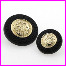 2015  best sell metal sewing button zinc alloy material gold color used for kinds of cloth round DIY