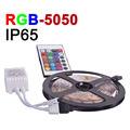 IP65 Waterproof LED Strip Light SMD5050 RGB LED 5m/lot 60eds/m DC 12V Fitas De Led Decorated For Home With IR Remote Controller