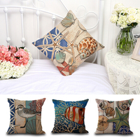 New Type Mediterranean Sea Style Starfish Print Decorative Pillow Case 45*45CM For Home
