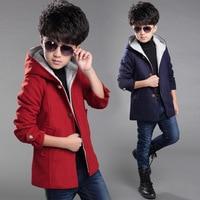 2017 Children S Spring Autumn Winter Wool Coat Teenage Boy S Long Coats Velvet Jacket Big