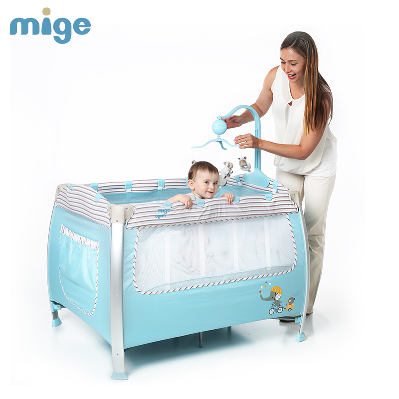 Cribs Multifunctional Folding European Portable Game Bed bb Cribs Baby Cradle Bed
