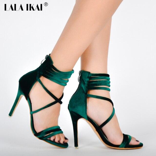 Aliexpress.com : Buy LALA IKAI 2017 Sexy High Heels Sandals Green ...