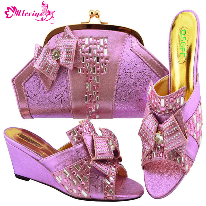 L.PURPLE Italian Shoes and Bags To Match Shoes with Bag Set Nigerian Shoes and Matching Bags African Women Wedding Shoes and Bag italian gold color italian ladies shoes and bags to match set nigerian shoes and matching bag african wedding shoes and bag set