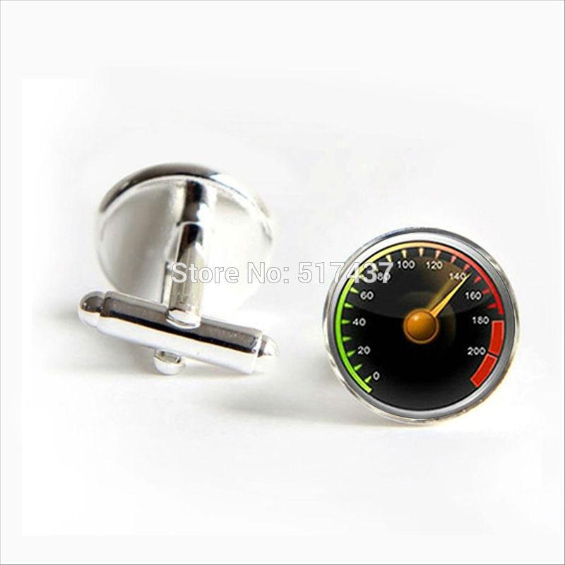 J-414 Wholesale Speedometer Cufflinks Car Speedometer Cuff Link Shirt Cufflinks For Mens