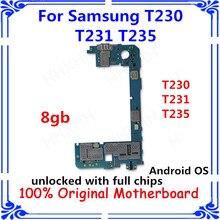 Разблокировка карты для samsung Galaxy Tab 4 T230 T231 T235 материнская плата 8 Гб материнская плата Android OS пластина T230 T231 T235 замененная панель/плата