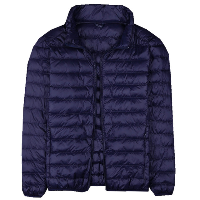 Autumn New Mens Clothes Fashion Boutique Solid Color Ultra-thin Light Comfortable Casual Hooded White Duck Down Jacket Men Coat 3
