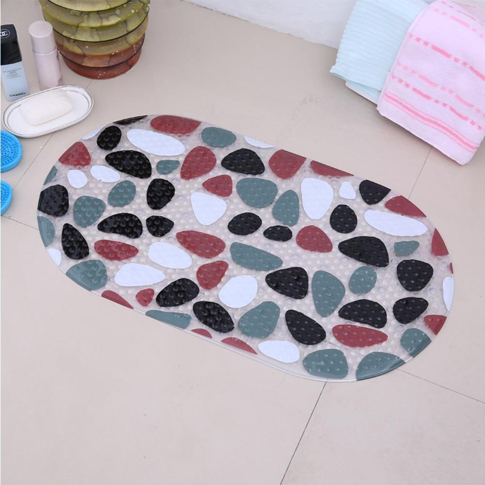 Morden Bathroom Anti Slip Shower Mat Pebble Stone Style Non slip ...