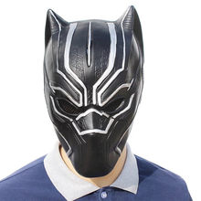 1pcs New Black Panther Masks Captain America Civil War Roles Cosplay Latex Helmet Mask Halloween Realistic Adult Party Props(China)