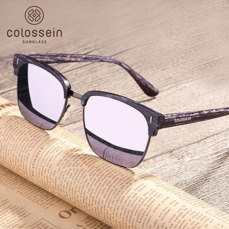 COLOSSEIN Fashion Zonnebril Dames Heren Trendy Bril Oogbrillen Rechthoekige Brillen Zomer Rijden Eyewear Gafas De Sol UV400