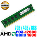 Garantía de por vida! 1600 PC3-12800 DDR3 1600 MHz/DDR 3 1600 MHz PC3 12800 2 GB 4 GB 8 GB Para PC de Escritorio DIMM de Memoria RAM/para AMD