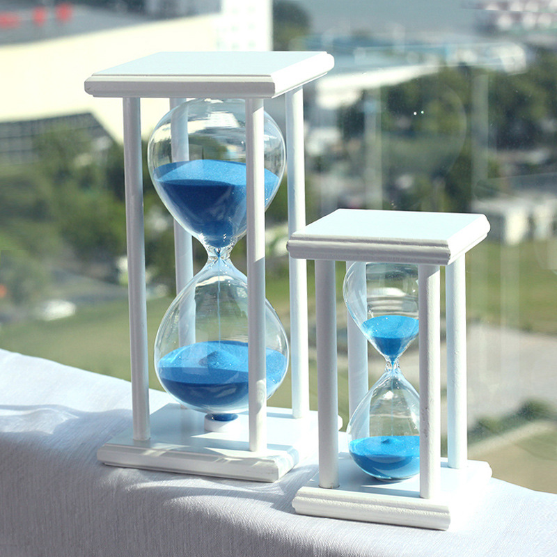 Hot Sale Hourglass 15/30 Mins Time Hourglass Timer Sandglass Creative Birthday Crafts De ...