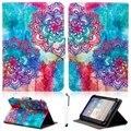 """Patrón de Impresión Universal Folio PU Del Soporte Del Cuero Funda para 9.7 10 ''10.1"""" Tablet PC"""
