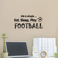 American Football Wall Mural Vinyl Decal Sticker Decor Player Custom Name And Number Personalized Kids Teens Bedroom DIY WW-167