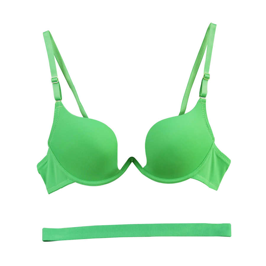2017 New Sexy Brand Brassiere Embroidery Bra  Deep U Push Up Bra  Women's underwear Seamless Women tops big size 70-85 AB cup