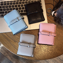 AOEO girl wallet three fold with card holder kawaii small mini ladies coin purse cute wallets candy color leisure female