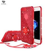 Для iPhone 7 diamond случае кольцо Sleek 6 S Plus Bling крышка для iPhone 7 Plus кольцо красный чехол для iPhone 6 Чехол блеск розового золота