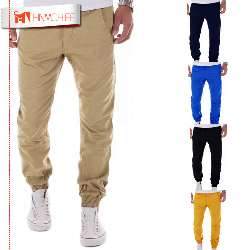 HNMCHIEF Mens Joggers 2017 Brand Male Trousers Men Pants Casual Solid Pants Sweatpants Jogger Harem Khaki Sweatpants XXXL