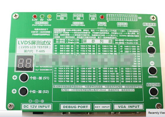 все цены на T-60S 6th Generation Monitor Laptop TV LCD/LED Panel Tester 60 Programs w/ VGA DC LVDS Cables Inverter LED Board 12v 4a Adapter онлайн