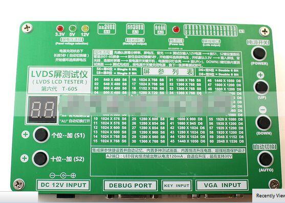 T-60s 6th поколения Мониторы ноутбука ТВ ЖК-дисплей/LED Панель тестер 60 программ w/VGA  ...