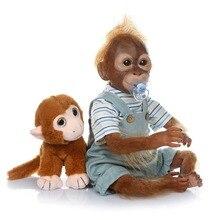 21inch 52CM Silicone Monkey Reborn Doll Baby girl Dolls Soft Cotton Body Boneca Reborn Doll Collectible art doll Gift Brinquedos недорого