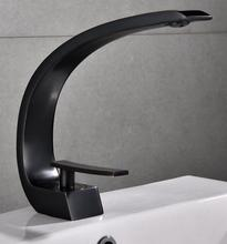 Black Baking Paint Copper Faucet C-shaped Electroplating Bathroom Sanitary free shipping