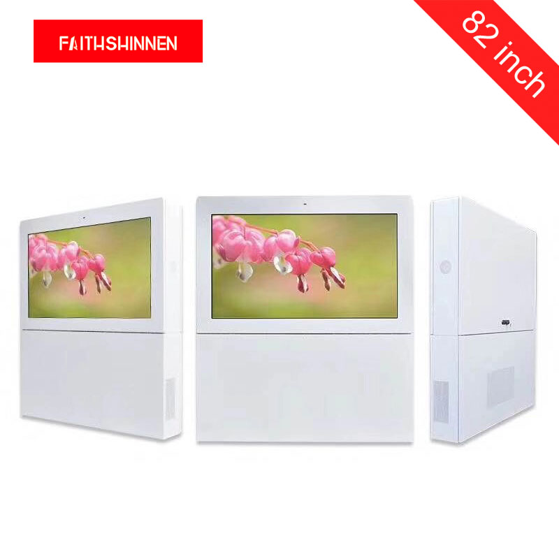 82 inch IP55 waterproof high brightness OOH lcd display kiosk outdoor digital signage for out of home advertising