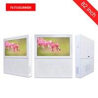 82 inch IP55 waterproof outdoor advertising display totem digital display
