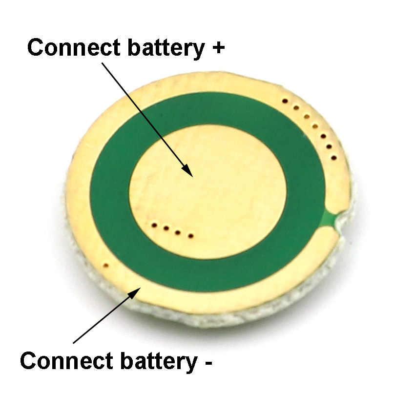 """נהג 17 מ""""מ 5 מצבים מעגלים קלט 3.7-4.2 V עבור XM-L/XM-L2 U3 T6 U2 XP-L V5 מתח גבוה פנס LED לפיד פנס"""