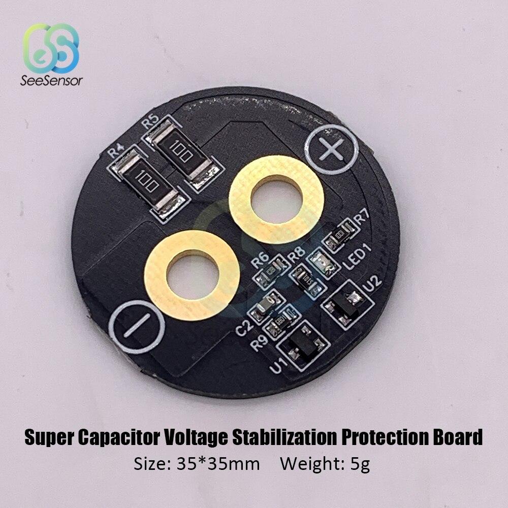 Tablero de equilibrio de tablero de protección de regulador de voltaje súper condensador para 2,5 V 2,7 V 3V 360-700F condensador Super Farad 35 * 35mm