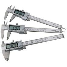 Discount! 0-200mm Electronic digital LCD vernier caliper buy metal shtangeltsyrkul stainless steel measuring tool ruler paquimetro HD1005