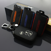 Leather Car Key Case Cover Ring Skin For TOYOTA RAV4 Prado Land Cruiser Camry Highlander Crown