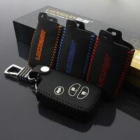 leather car key case cover ring skin for TOYOTA RAV4 prado Land Cruiser Camry Highlander Crown Prado Prius key chain