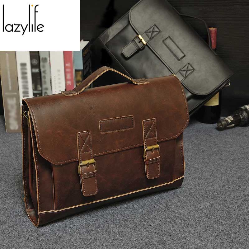 LAZYLIFE Genuine Leather bag Briefcase Male Business Men bags Laptop Tote Crossbody bags Shoulder Handbag Men's Messenger Bags zznick new men genuine leather bag business men bags laptop tote briefcase crossbody bags shoulder handbag men s messenger bag