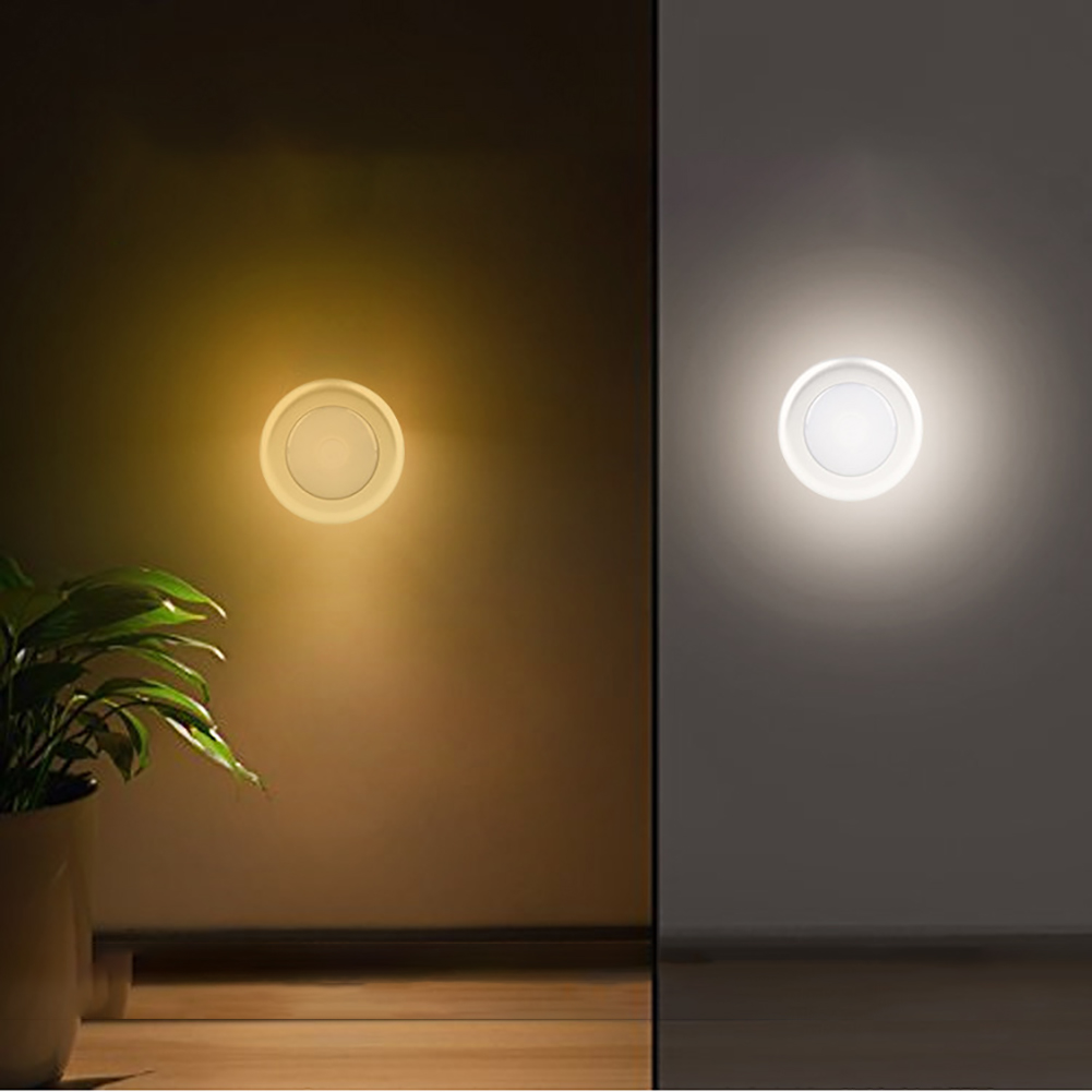 6-Led Adhesive Patent Closet Cabinet Lamp Stepless Dimming Kitchen Security Battery Powered  Control Bedroom Portable Wireless