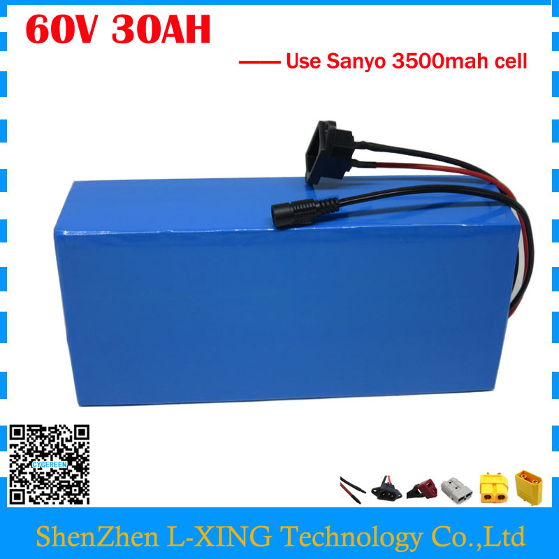Free customs duty 3000W 60V 30AH Lithium battery 60V 30AH e-scooter battery use NCR18650GA 3500mah cell 50A BMS with 2A Charger free customs duty 36v 28ah battery pack 1500w 36 v lithium battery 28ah use samsung 3500mah cell 50a bms with 2a charger