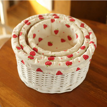 Small & middle large wicker storage baskets decorative rattan for gifts Clothing Snack laundry basket organizer