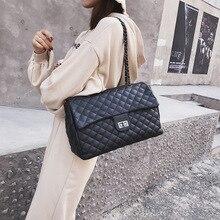 The new 2019 diamond lattice chain bag female fashion in Europe and America single shoulder joker inclined