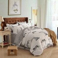 Zürafa Leopar Zebra Yorgan Yatak Takımları Çocuklar Nevresim Çarşaf Kral Kraliçe Çift yatak Örtüsü Siyah Beyaz Stripes
