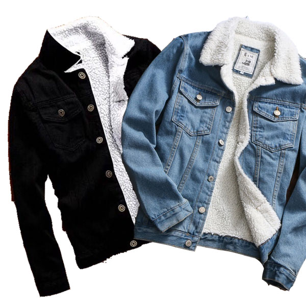 ZOGAA Hot Sale Men Jacket and Coat Trendy Warm Fleece Denim 2018 Winter Fashion Jean Outwear Male Cowboy
