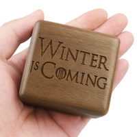 Sinzyo Handmade Wooden Game of Thrones Music Box Wood Carved Mechanism Musical Box Gift For Christmas Valentine's day