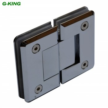 Pure copper precision casting 180 degree glass clamp door glass hinge glass hinge high-grade mirror glass door clip
