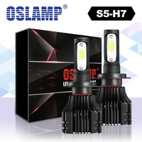 Oslamp 2pcs S5 H7 Single Beam LED Car Headlight Bulbs COB Chips 8000lm Set 6500K Auto